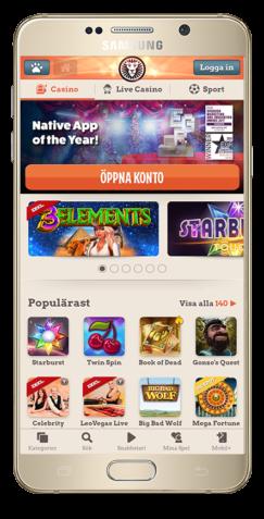 gratis casino hos LeoVegas